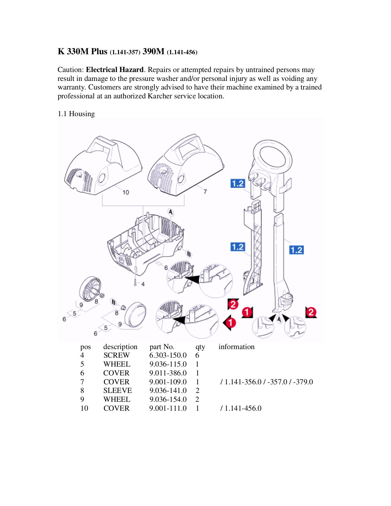 Karcher 390 service manual