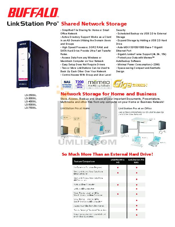 Buffalo ls 320gl Manual