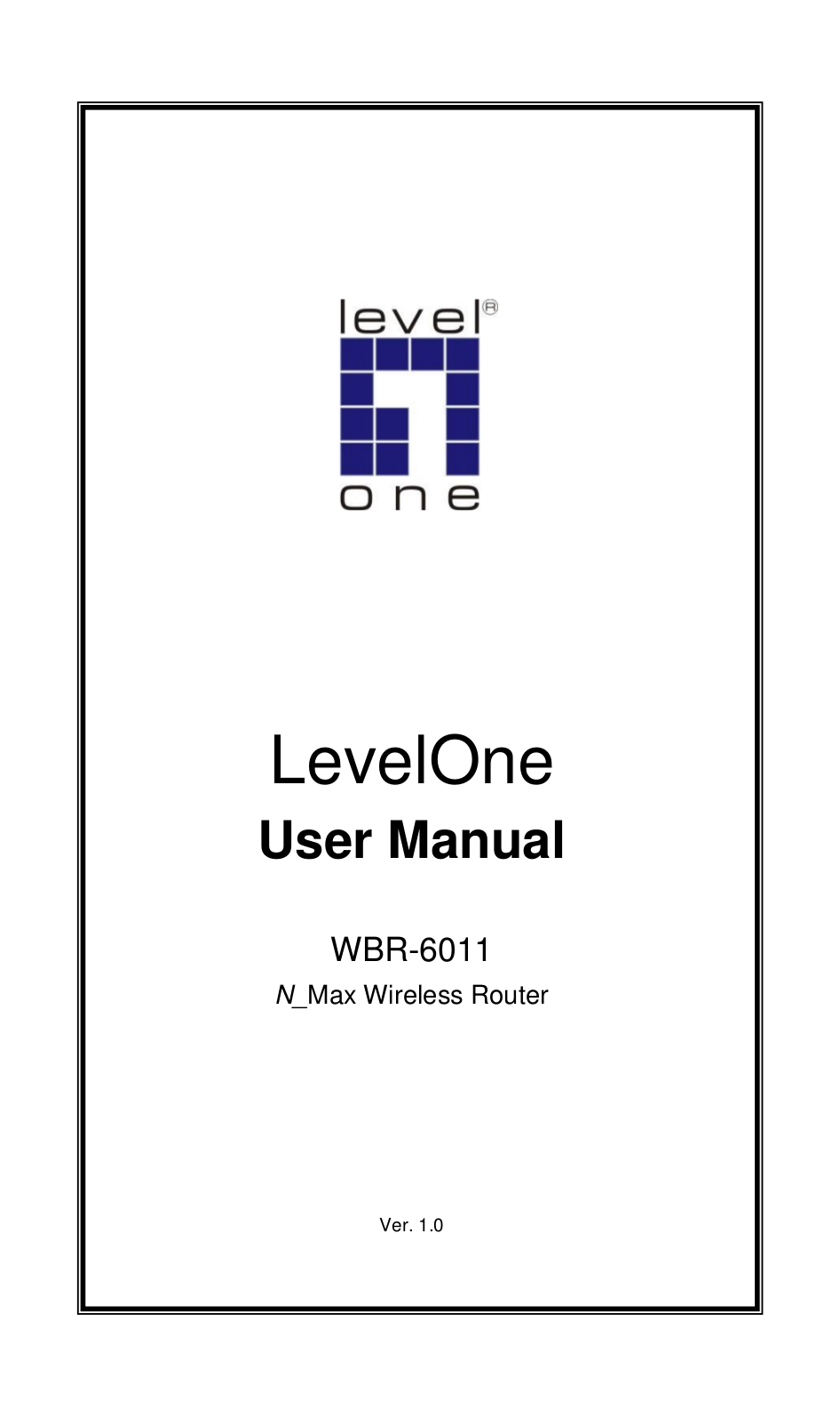 pdf for LevelOne Wireless Router WBR-6011 manual