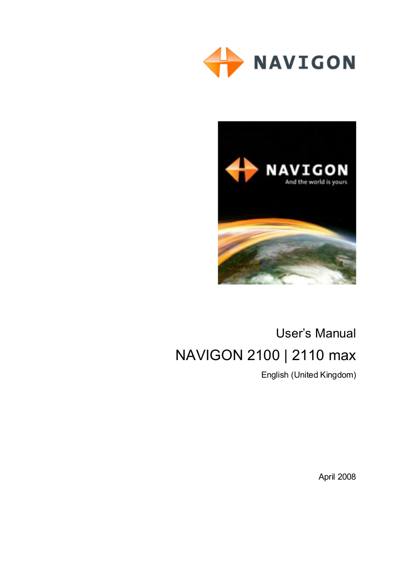 pdf for Navigon GPS 2100 max manual