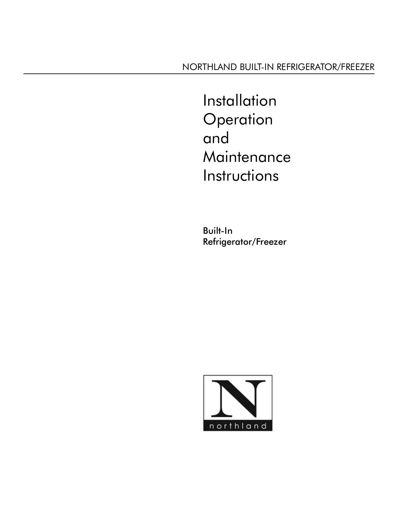 pdf for Northland Other 18WC-SGP Wine Cooler manual
