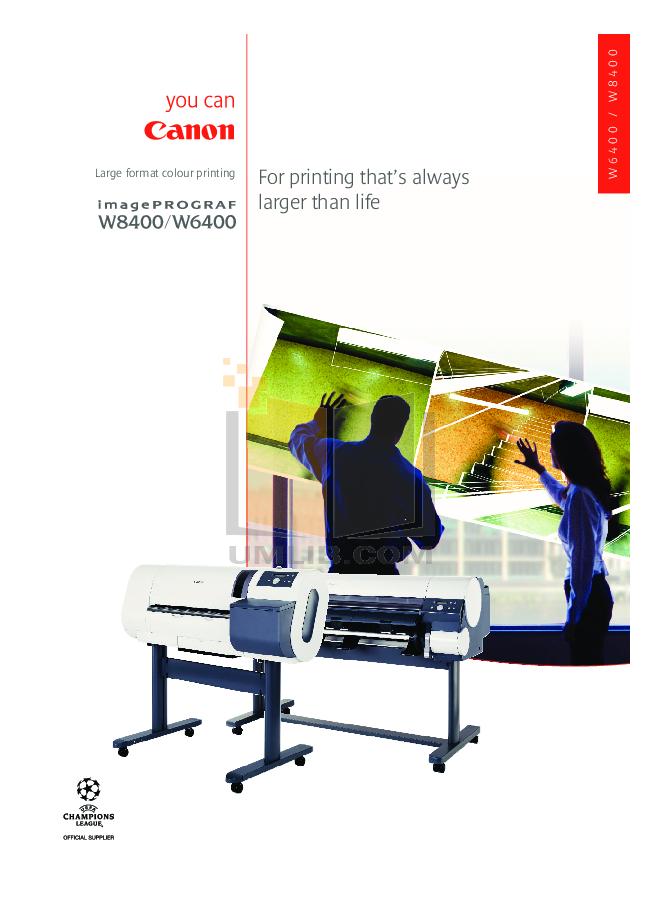 pdf for Canon Printer imagePROGRAF W8400 manual