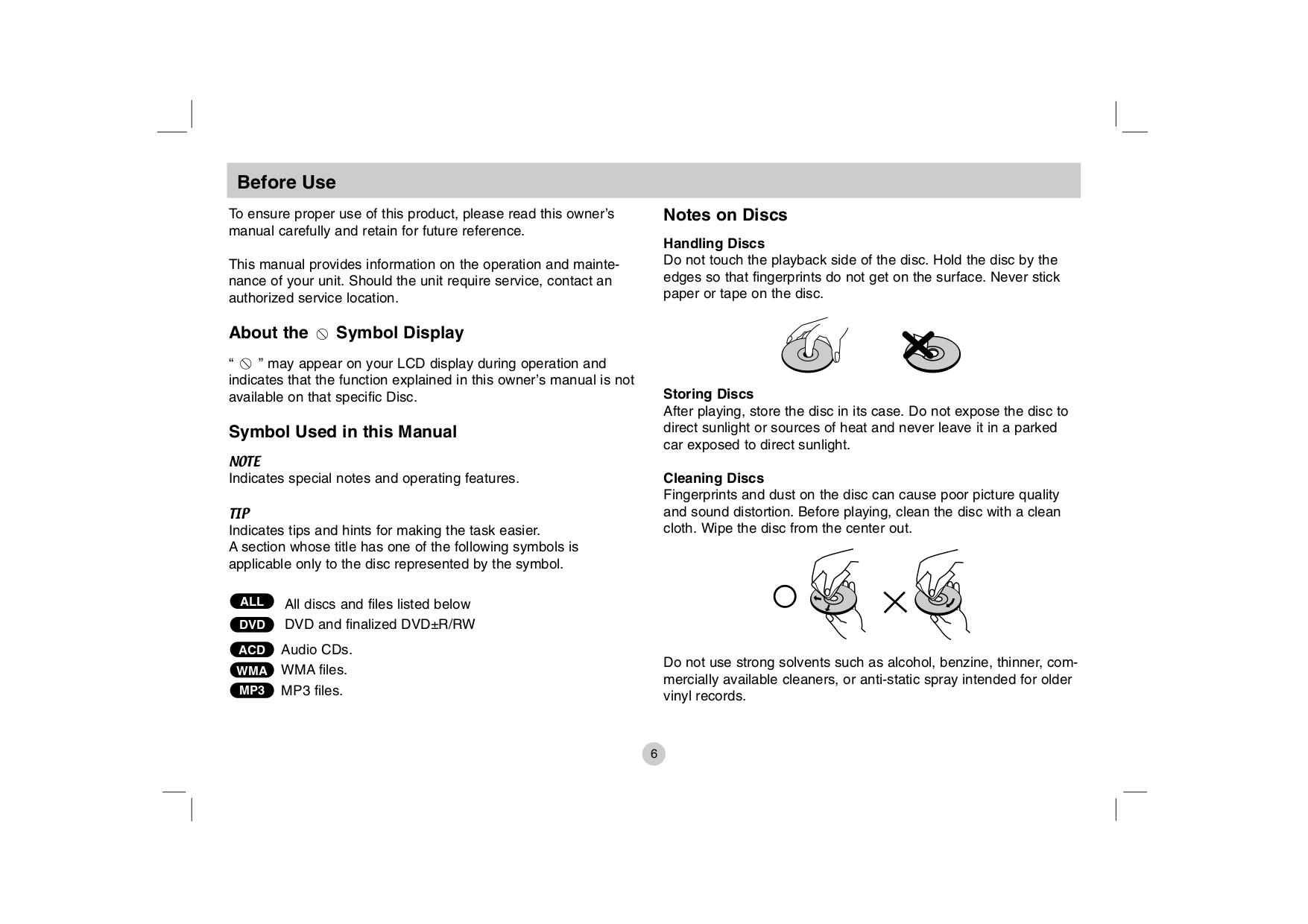 LG Portable DVD Player DP781 pdf page preview