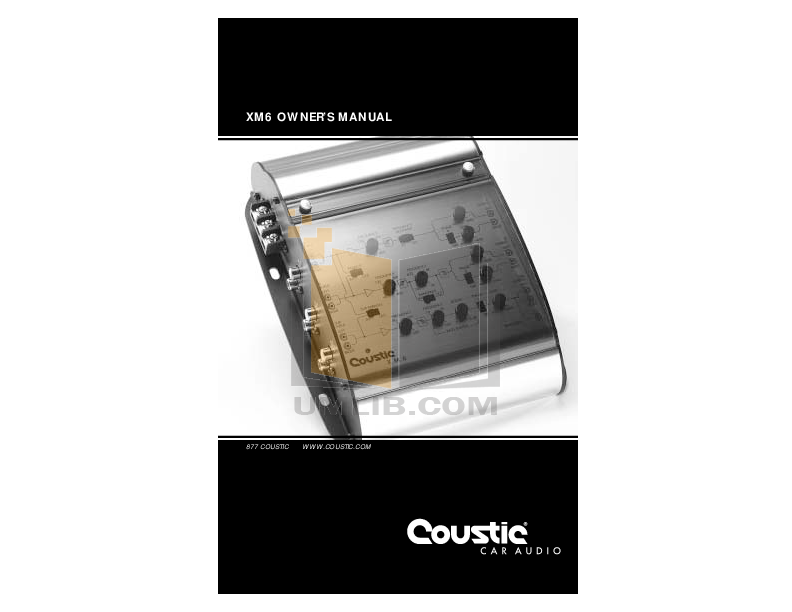 pdf for Coustic Car Amplifier XM-6 manual