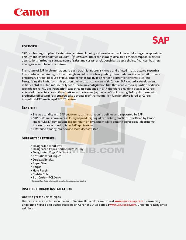 pdf for Canon Printer imageRUNNER LBP-5960 manual