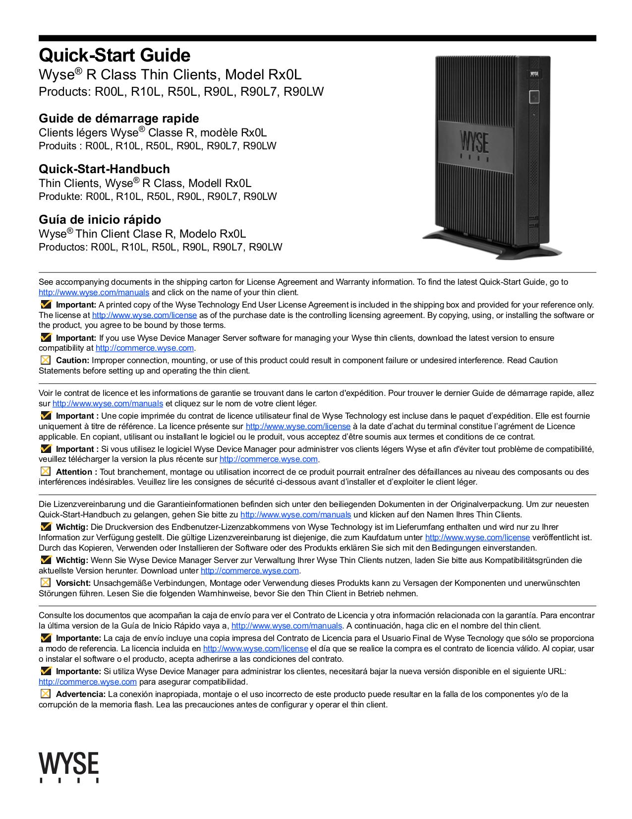 pdf for Wyse Desktop R50L manual