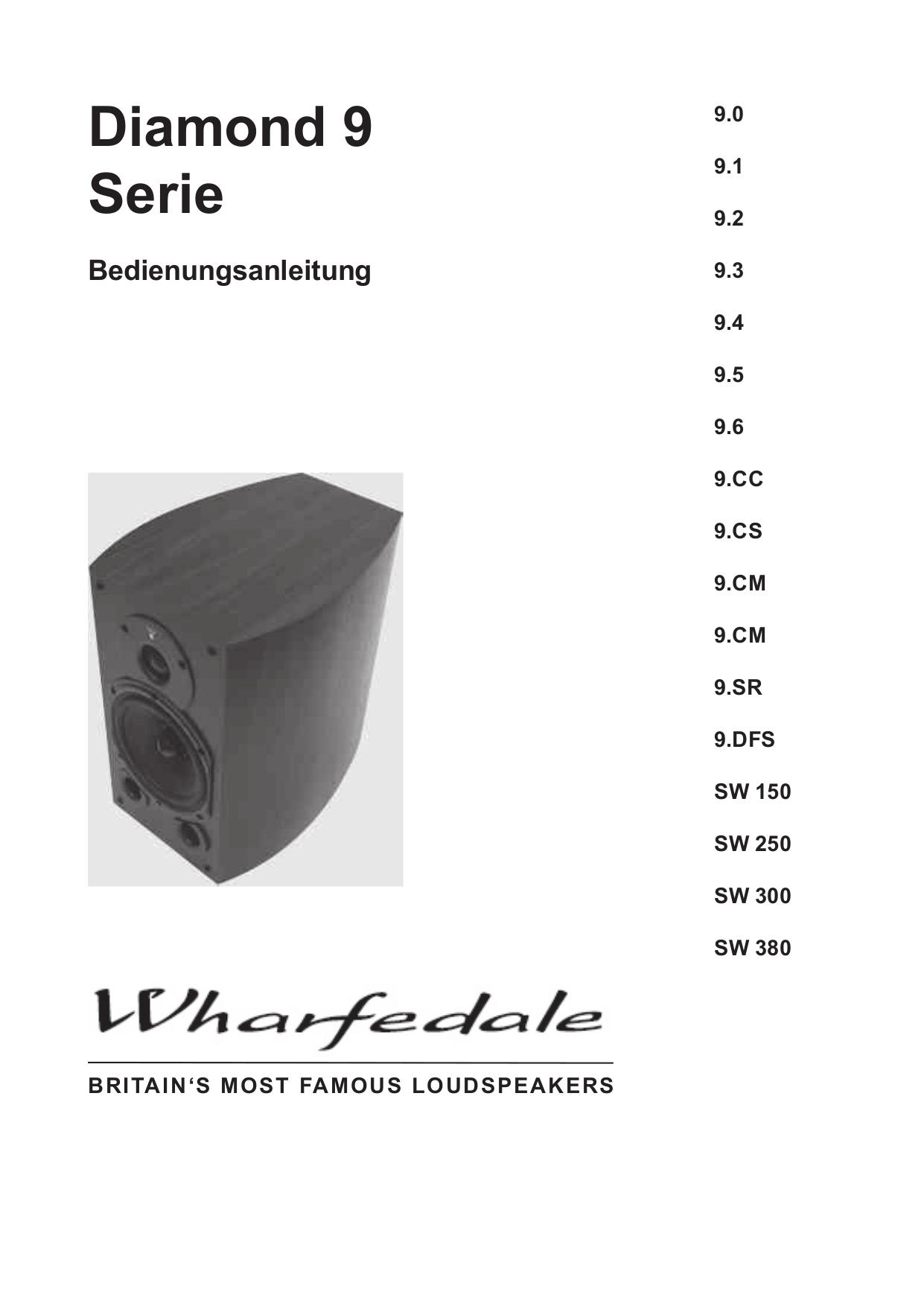 pdf for Wharfedale Speaker Diamond 9.2 manual