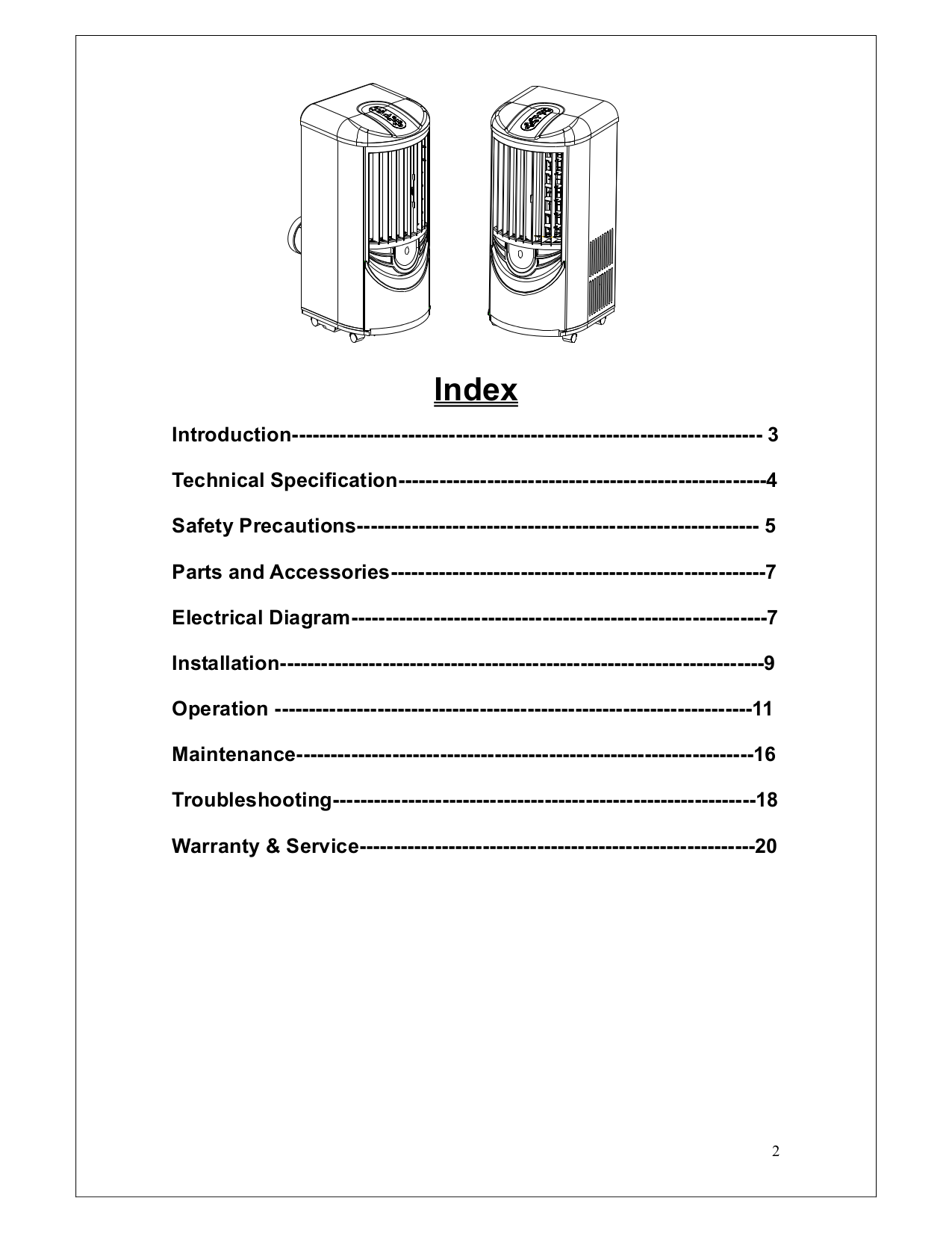 Whynter Air Conditioner ARC-13 pdf page preview