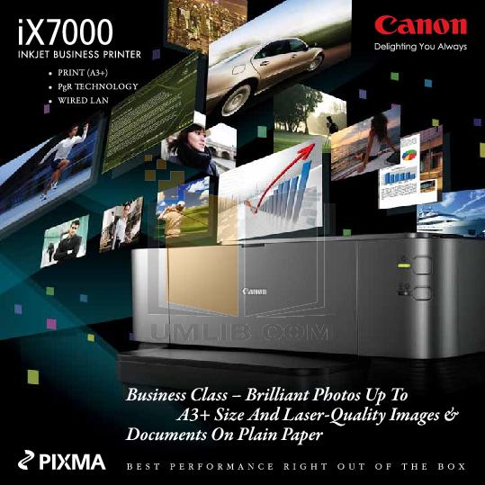 pdf for Canon Printer PIXMA iX7000 manual