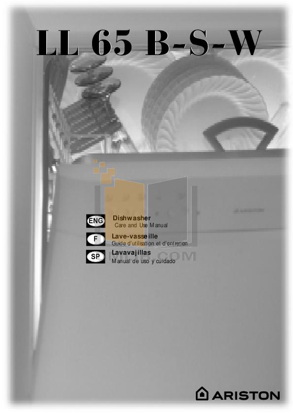pdf for Ariston Dishwasher LL 65 B NA manual