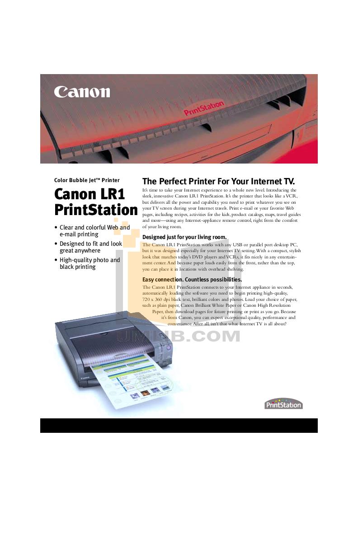 pdf for Canon Printer LR1 manual
