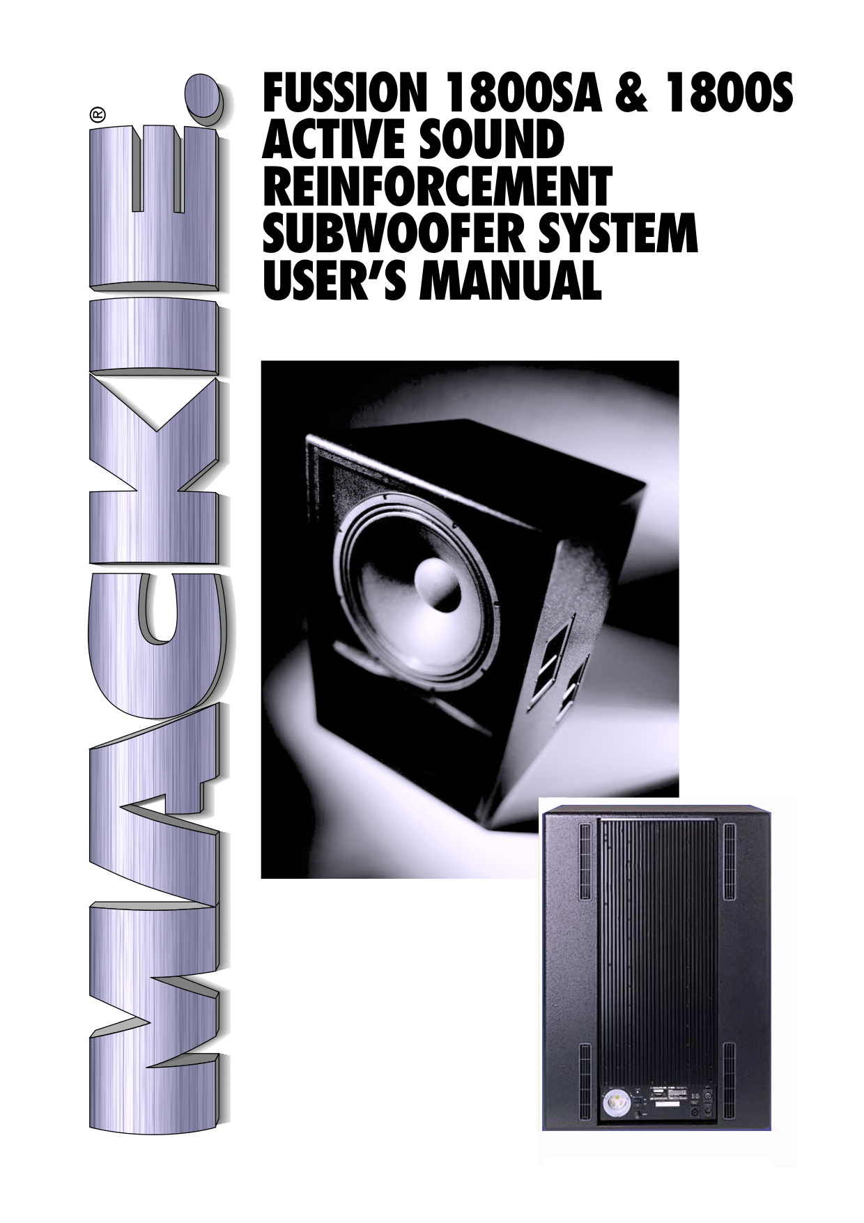 pdf for Mackie Speaker System Fussion Series 3000 manual