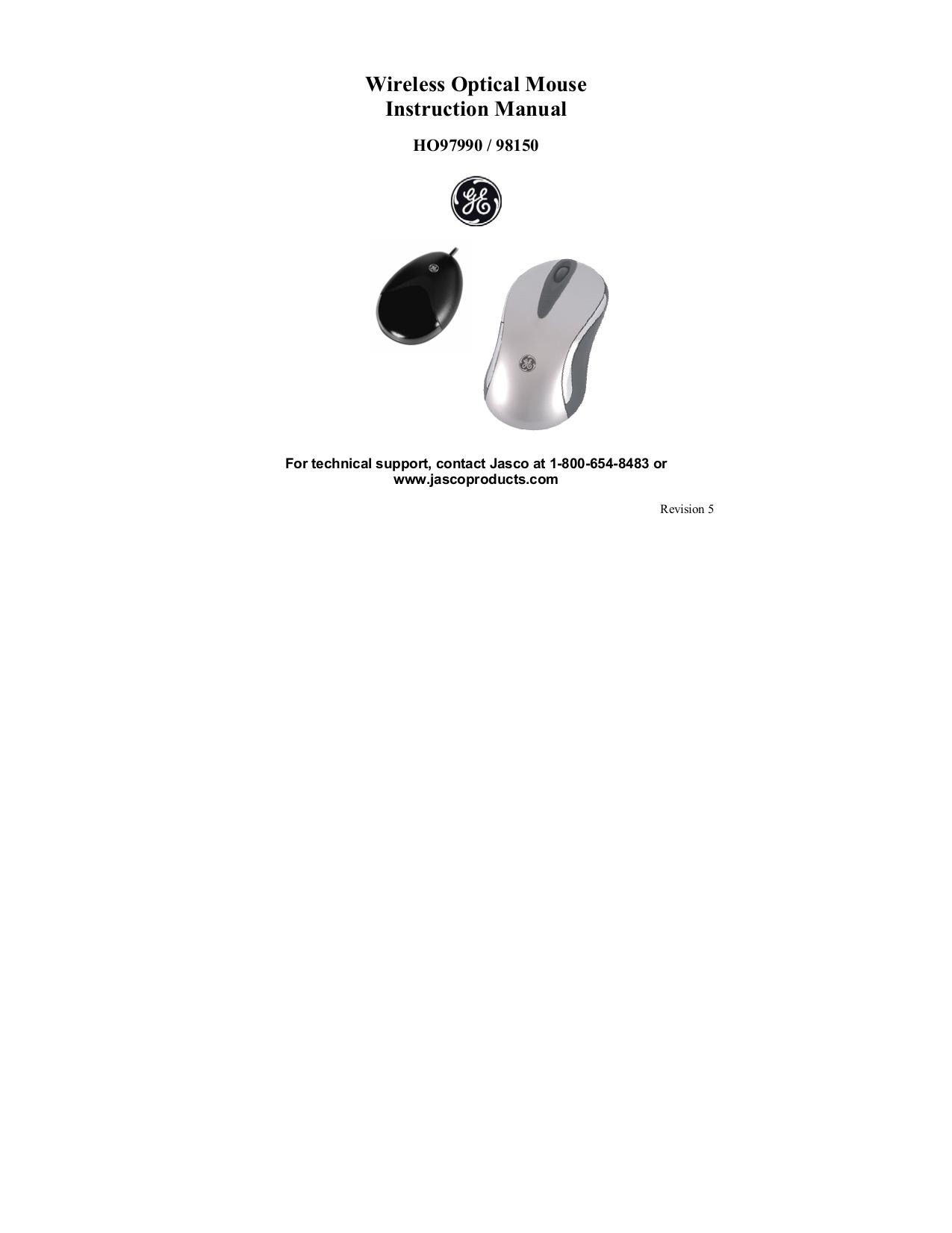pdf for Jasco Mouse 97990 manual