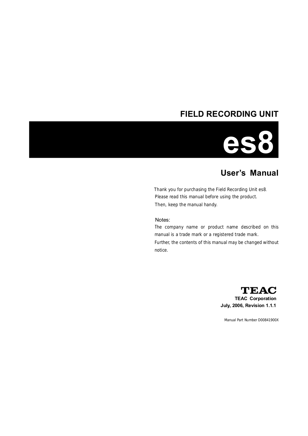 pdf for Teac Other D-05 Converter manual