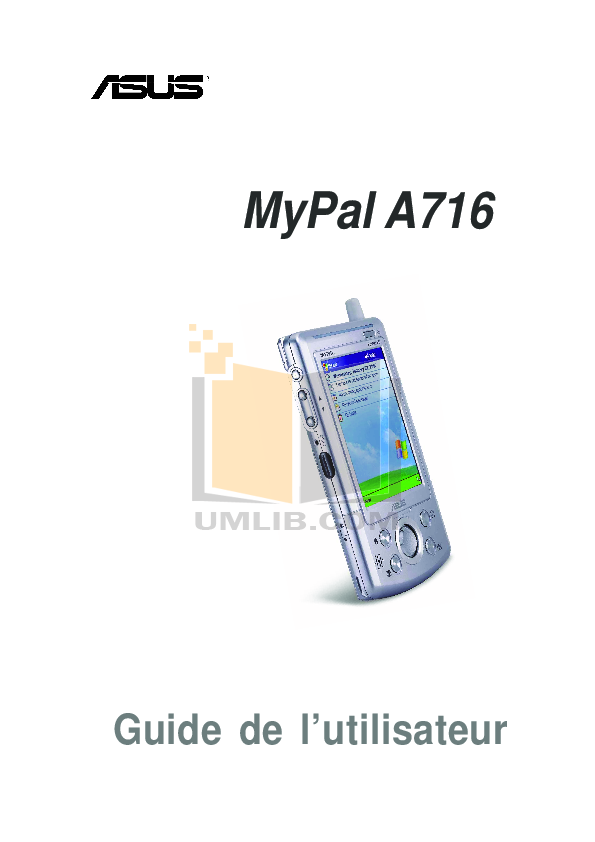 pdf for Asus PDA MyPal A716 manual