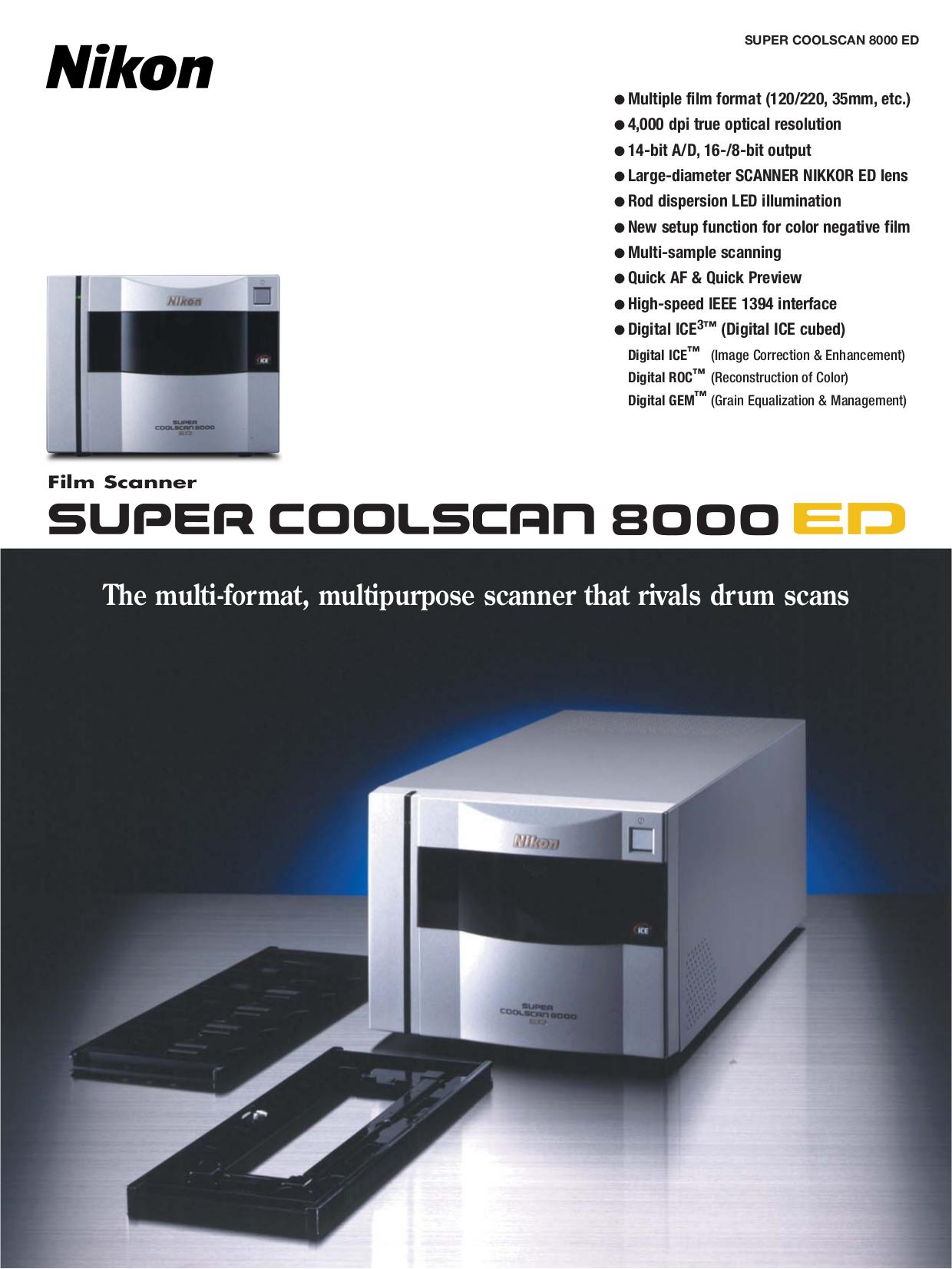 pdf for Nikon Scanner LS-8000 manual
