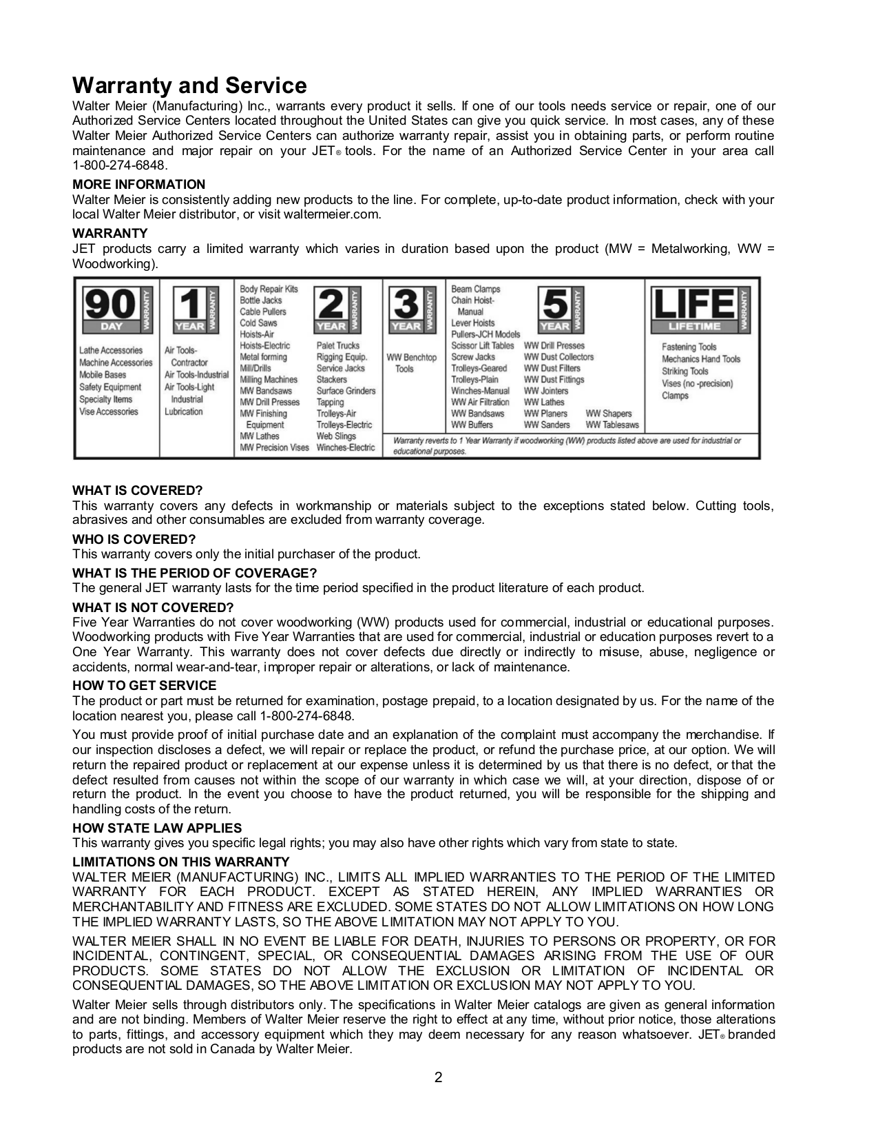 Jet Vacuum DC-1100RC pdf page preview