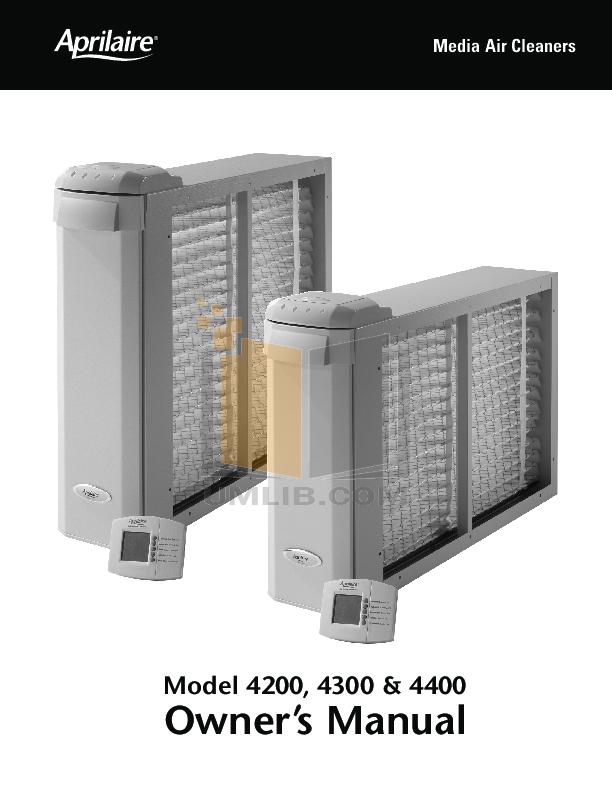 pdf for Aprilaire Air Purifier 4200 manual