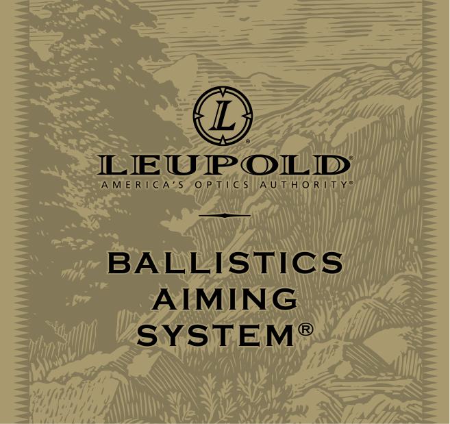 pdf for Leupold Binocular BALLISTIC AIMING SYSTEM manual