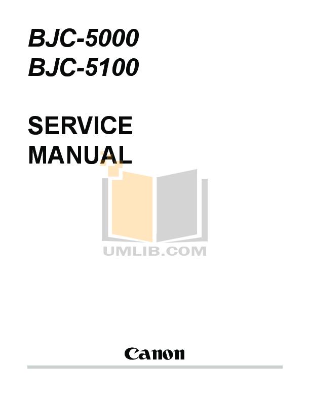 pdf for Canon Printer BJC-5000 manual