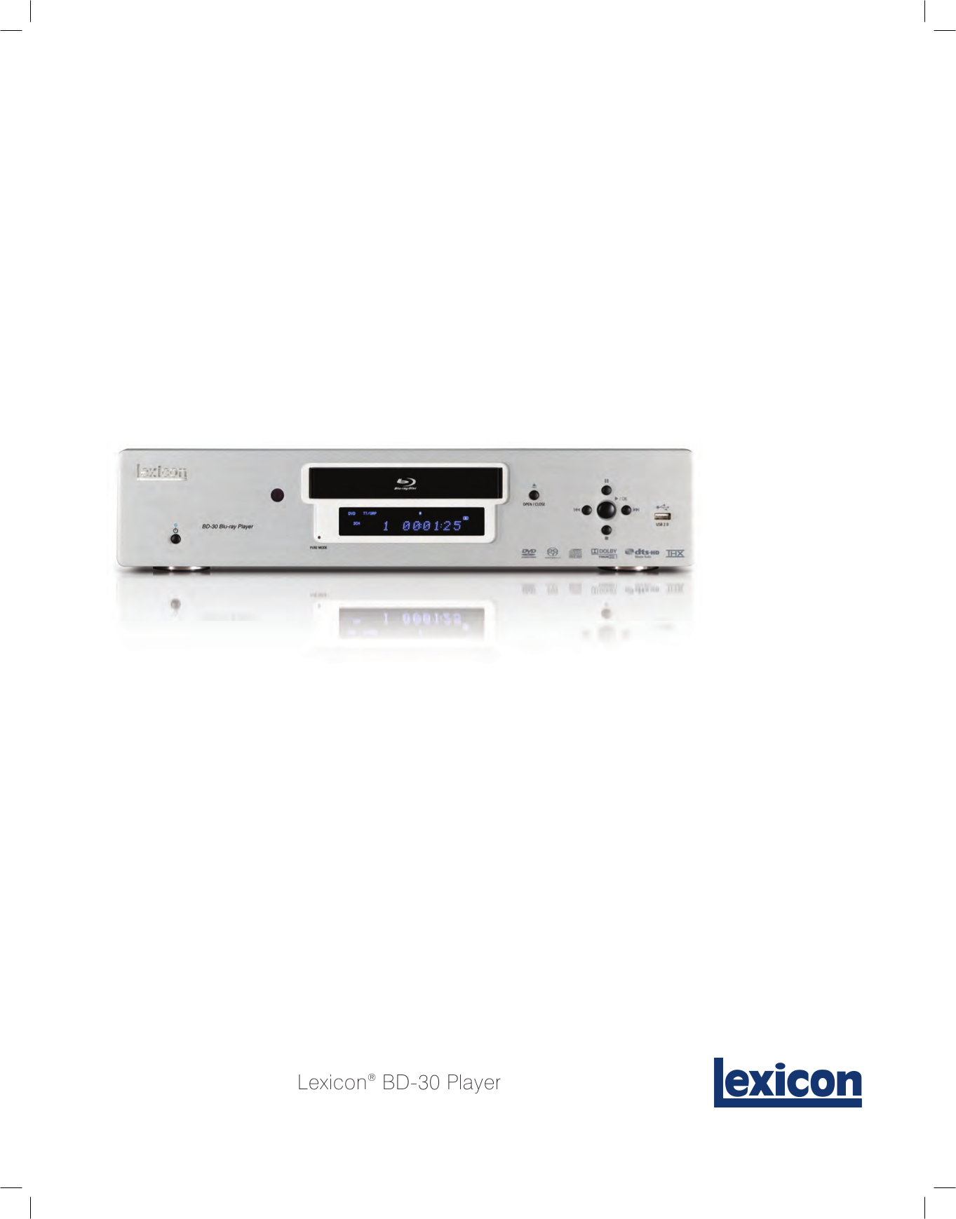 pdf for Lexicon DVD Players RT-20 manual
