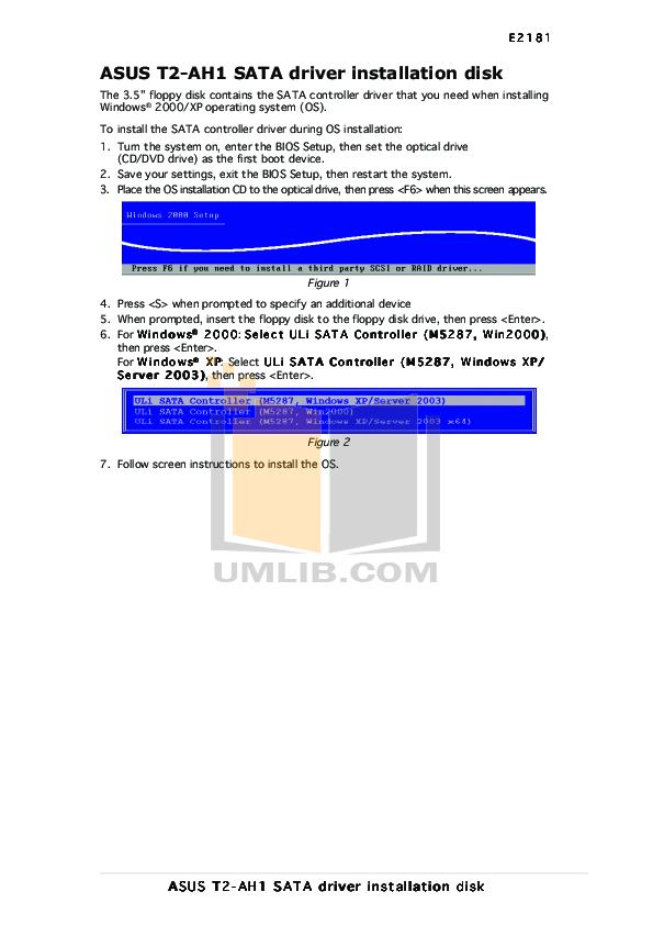 pdf for Asus Desktop T2-AH1 manual