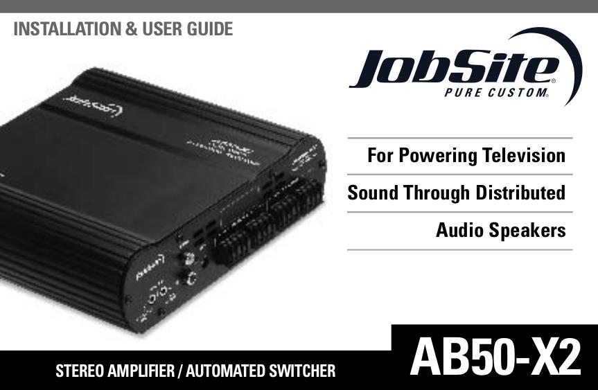pdf for Jobsite Amp AB50-X2 manual