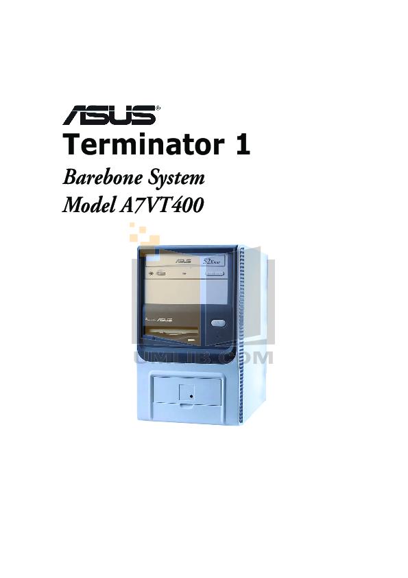 pdf for Asus Desktop Terminator A7VT400 manual