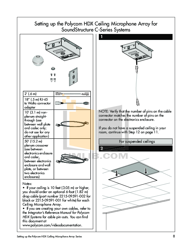 Crown Other Pzm 10ll Microphones Pdf Page Preview
