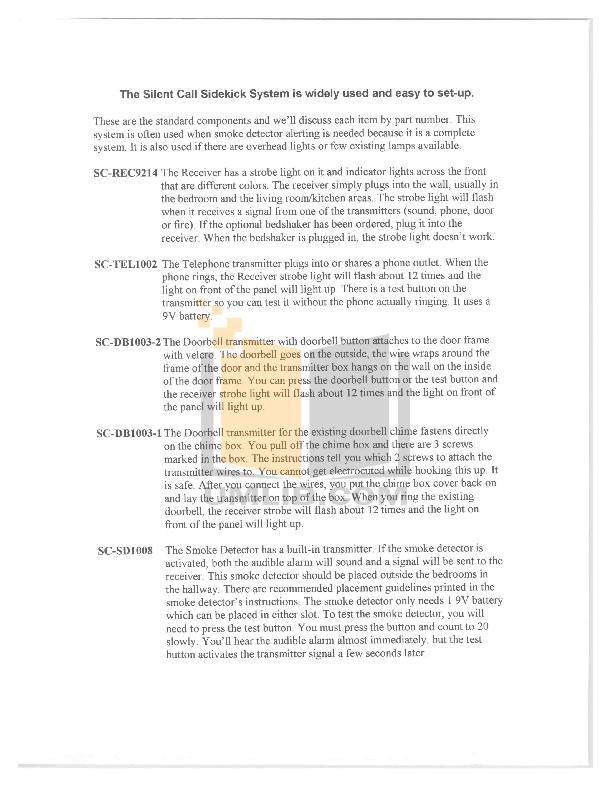 pdf for Ameriphone Remote Control AMRX2 manual