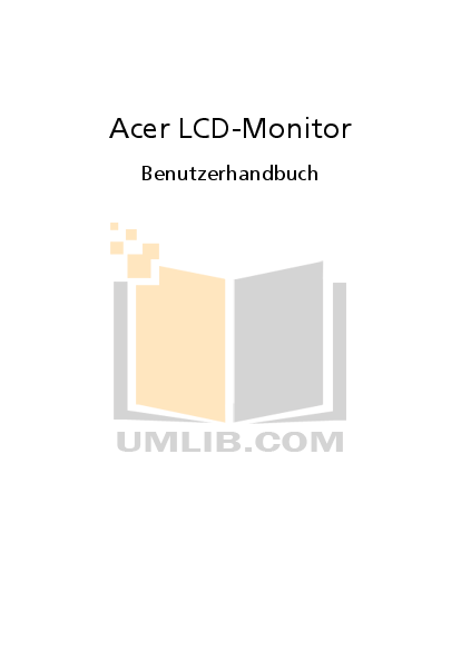 pdf for Acer Monitor B243W manual