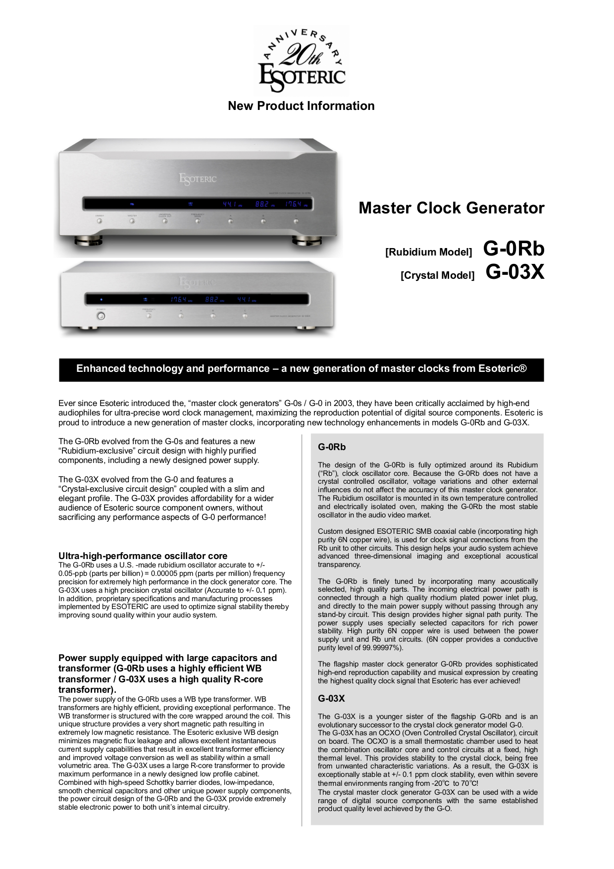 pdf for Teac Other G-0Rb Master clocks manual