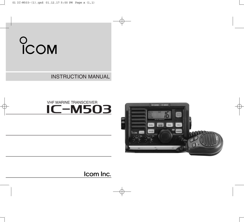 Ic M502 manual