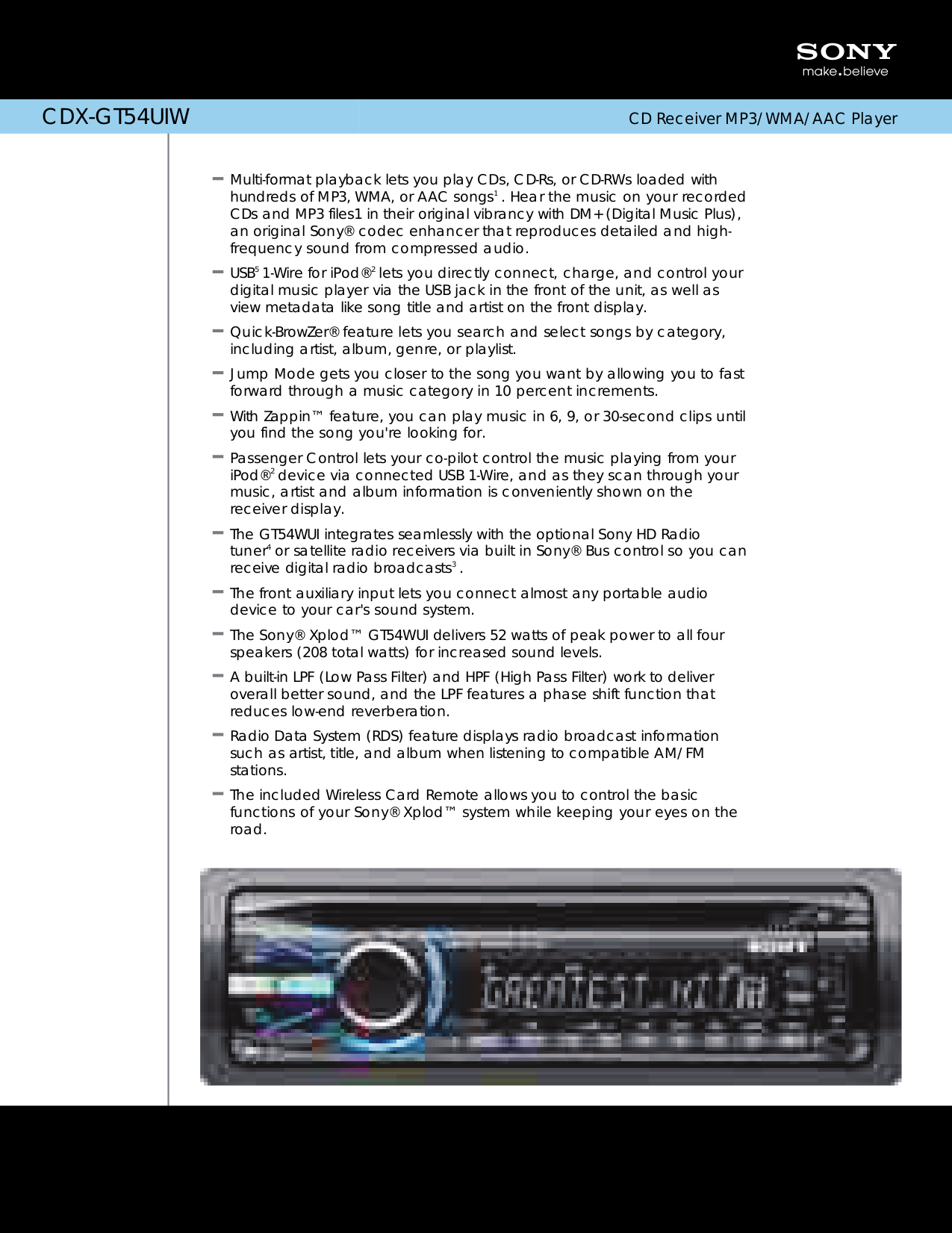Sony Cdx Gt54uiw Wiring Diagram Page 2 And Schematics Car Stereo Harness Gt620ip Pdf For Receiver Xplod Manual