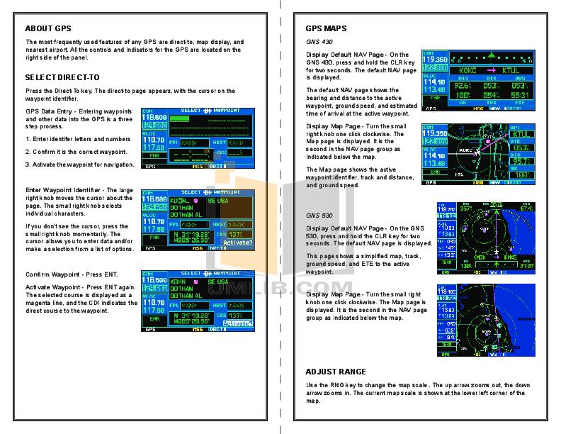 Garmin gns 430 fsx Manual