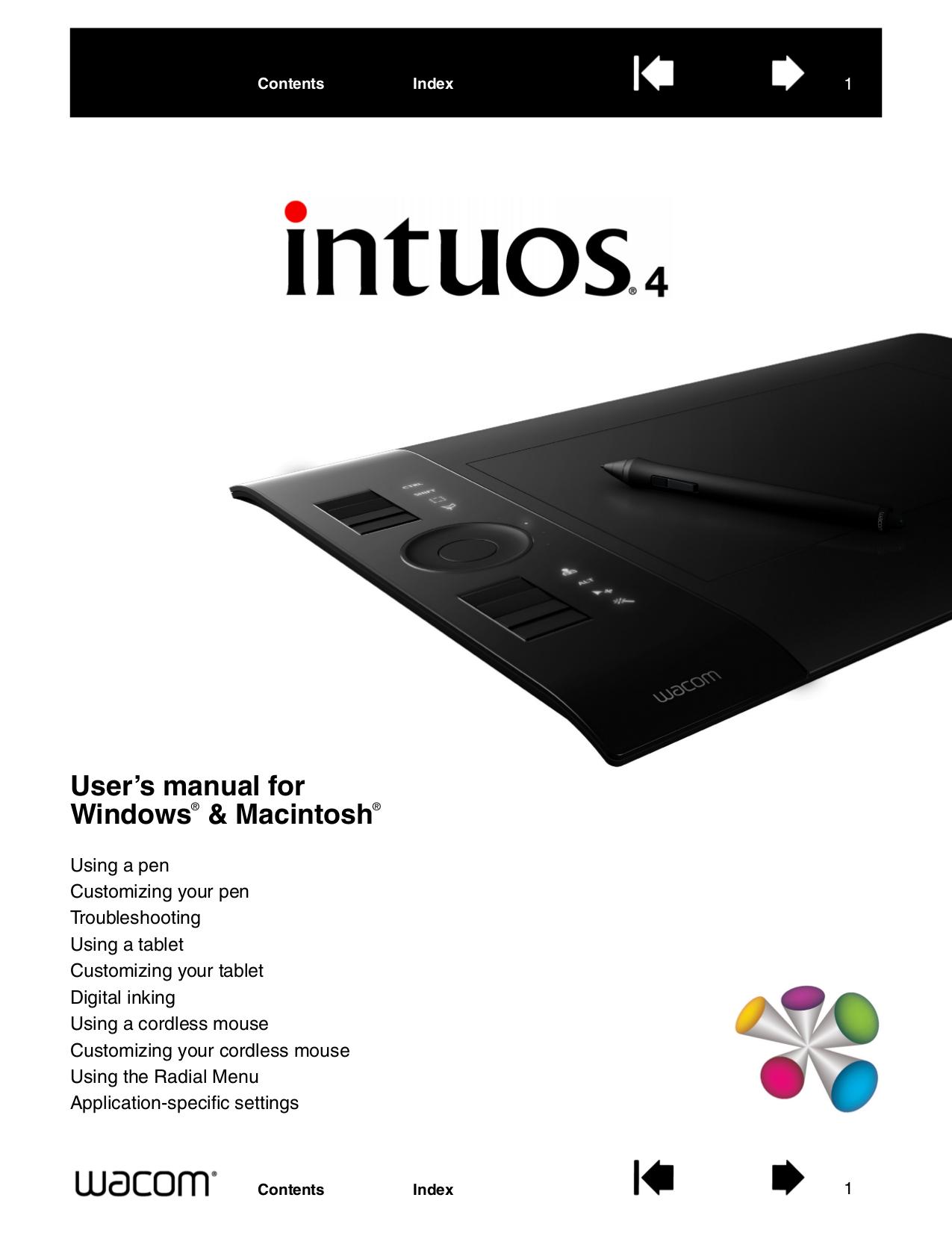 pdf for Wacom Mouse Intuos4 Medium manual