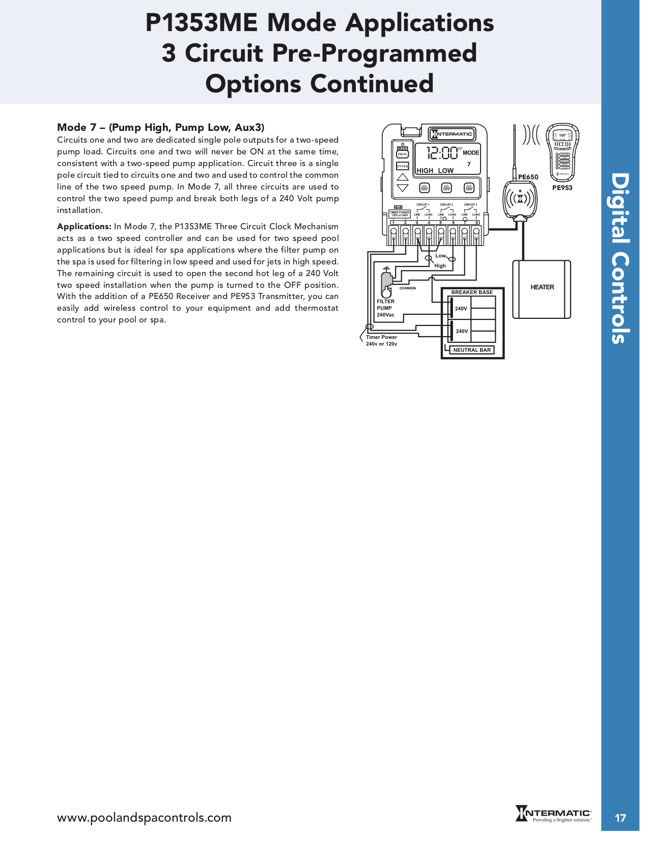 Intermatic P1353me Wiring Diagram Free Download T104p3 Pdf Manual For Other Three Circuit Clock Switch At