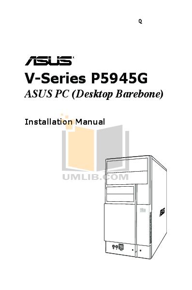 pdf for Asus Desktop V3-P5945G manual