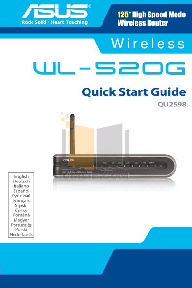pdf for Asus Wireless Router WL-520g manual