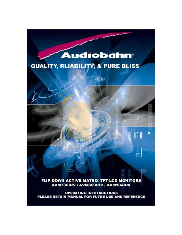 pdf for Audiobahn Car Video AVM730IRV manual