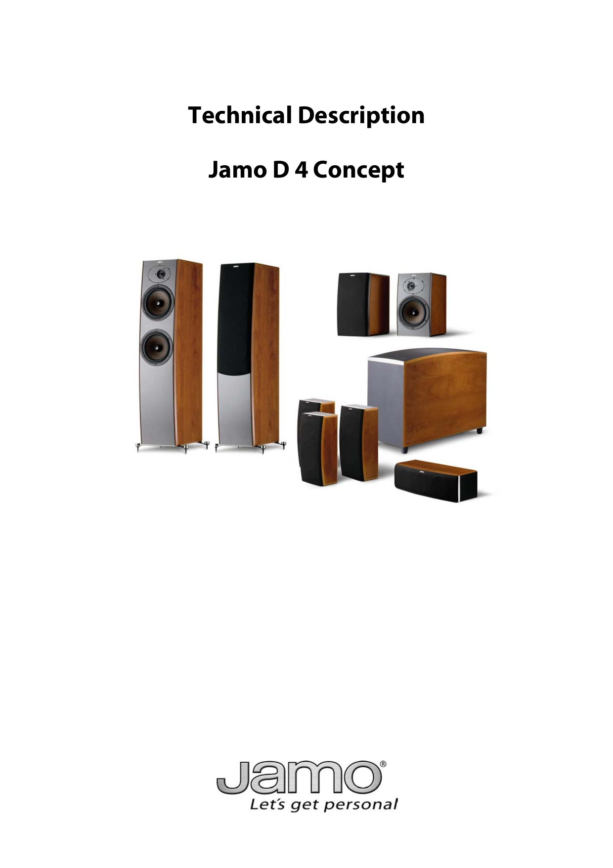 pdf for Jamo Speaker System D 430 manual
