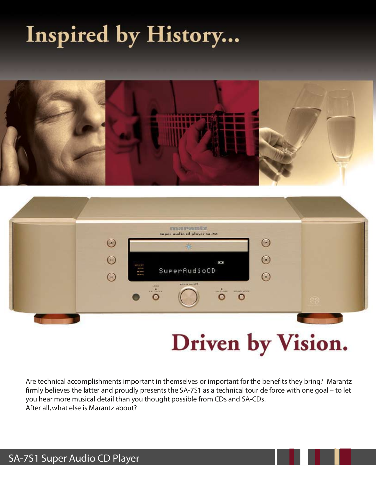 pdf for Marantz CD Player SA-7S1 manual