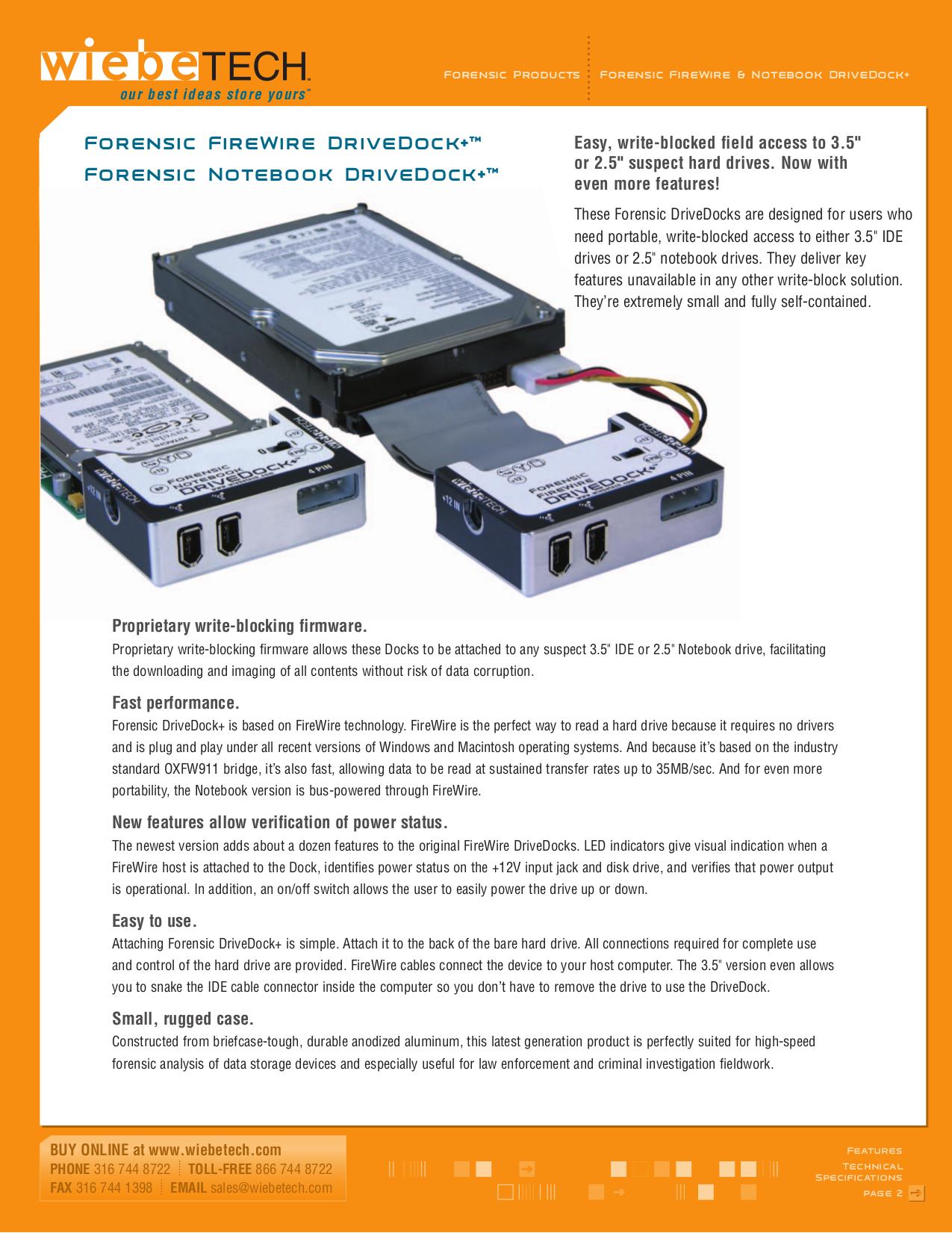 pdf for Wiebetech Storage FWDDP manual