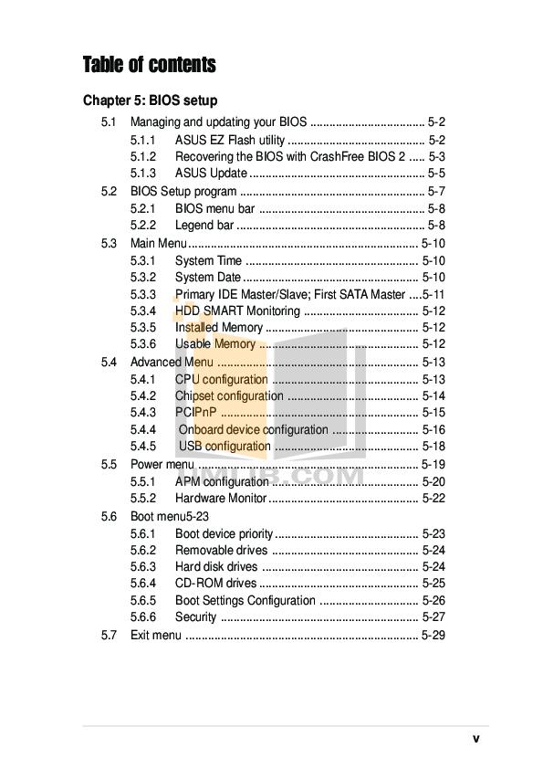 Asus Desktop Vintage PH1 pdf page preview