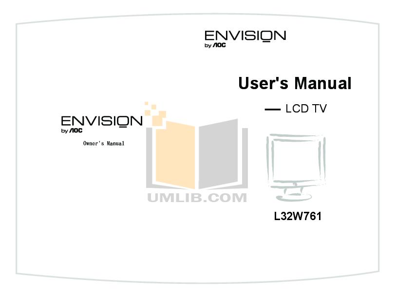 pdf for AOC TV L26W861 manual