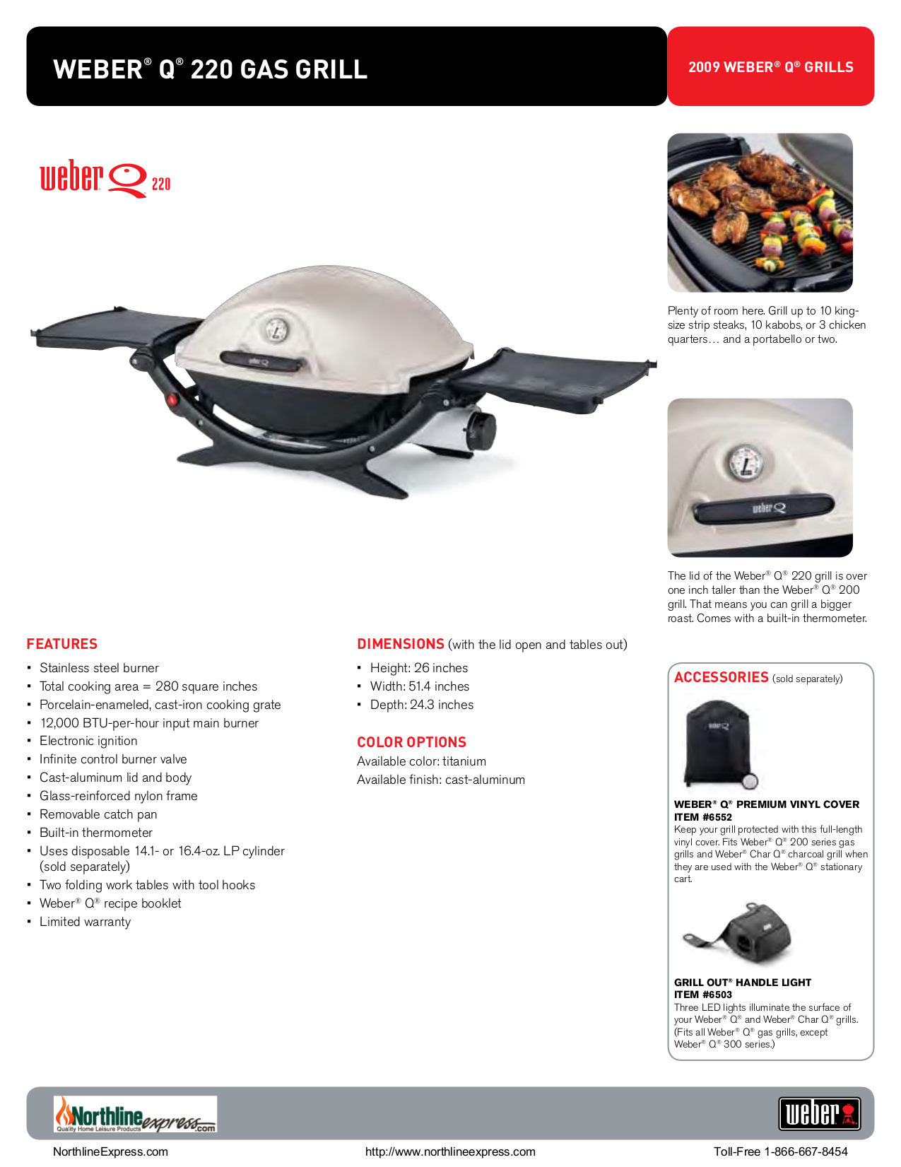 pdf for Weber Grill Q-220 manual