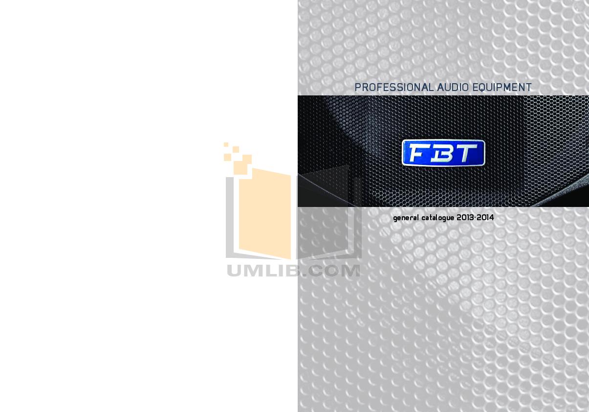 pdf for Fbt Subwoofer MODUS SUB manual