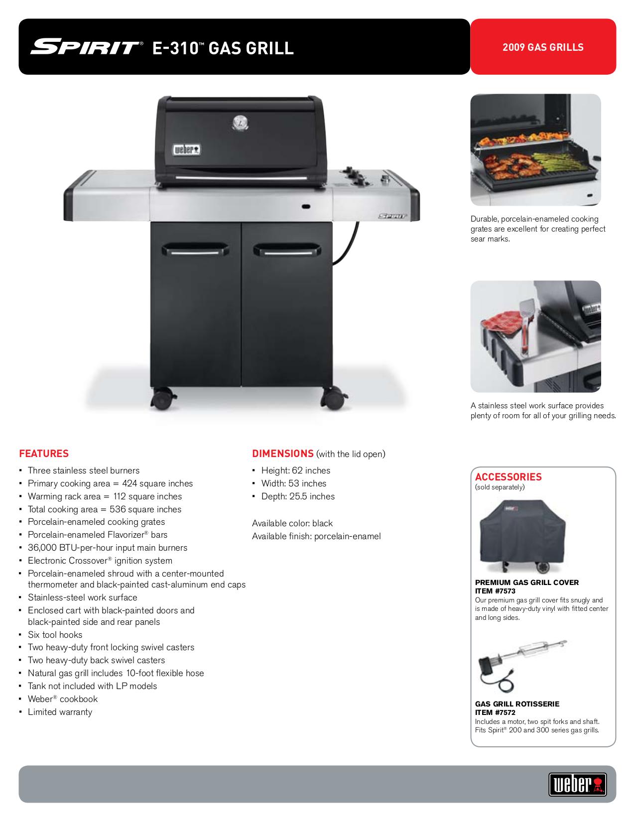 pdf for Weber Grill E-310 manual