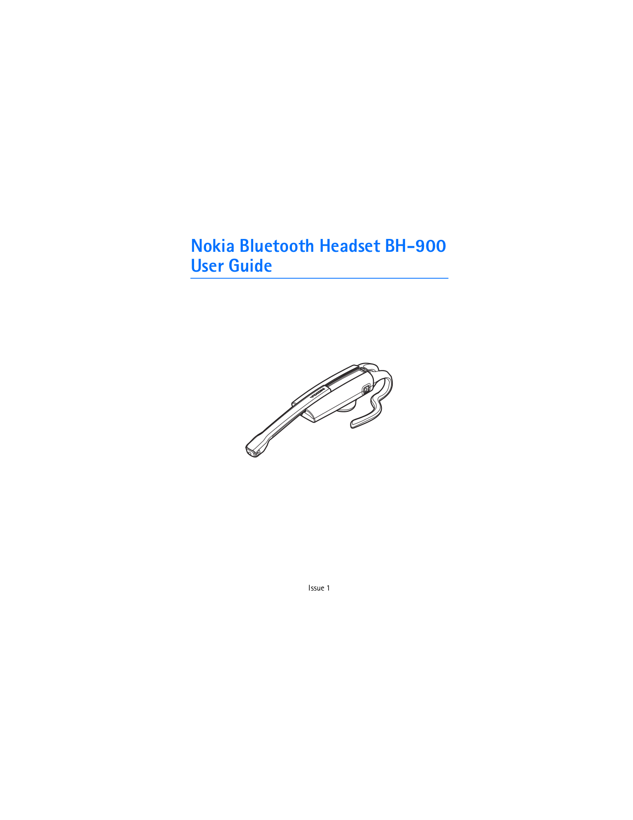 pdf for Nokia Headset BH-904 manual