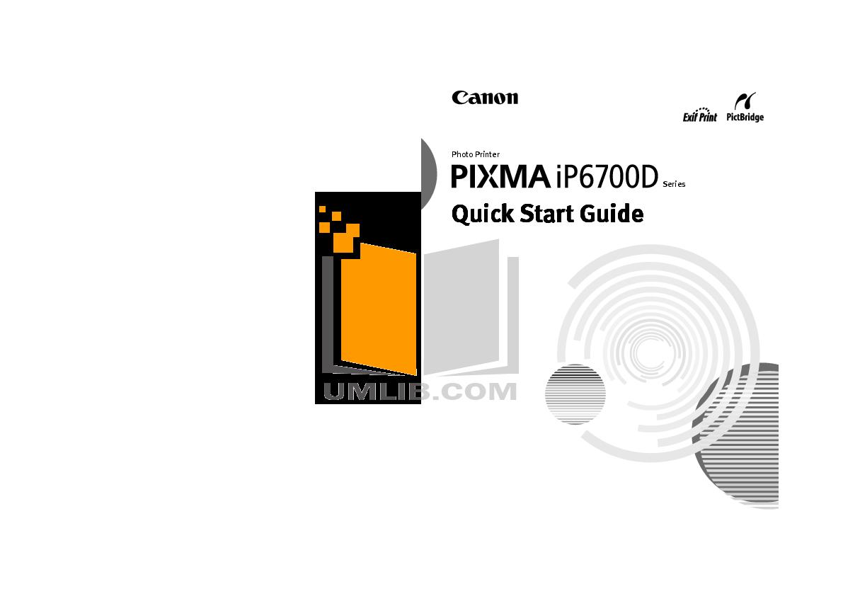 pdf for Canon Printer PIXMA iP6700D manual